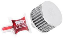 """K&N Filters - K&N Steel Base Fuel Cell, Rear End Breather Vent Filter - 5/8"""" Flange I.D."""