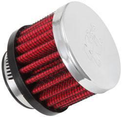 """K&N Filters - K&N Clamp-On Transmission, Rear End Breather Vent Filter - 1"""" Flange I.D."""