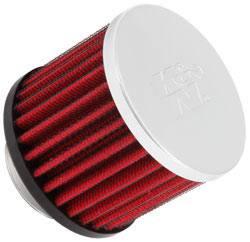 """K&N Filters - K&N Clamp-On Crankcase Breather Vent Filter - Rubber Base - 1-3/8"""" Flange I.D."""