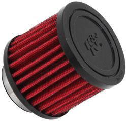 """K&N Filters - K&N Clamp-On Crankcase Breather Vent Filter - Rubber Base - 1-1/2"""" Flange I.D."""