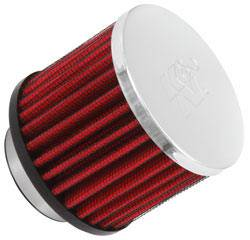"K&N Filters - K&N Clamp-On Crankcase Breather Vent Filter - Rubber Base - 1-1/2"" Flange I.D."