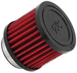 "K&N Filters - K&N Clamp-On Crankcase Breather Vent Filter - Rubber Base - 1-3/4"" Flange I.D."