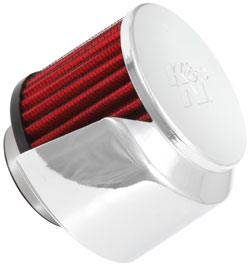 "K&N Filters - K&N Clamp-On Valve Cover Breather Vent Filter - Rubber Base - 1-1/2"" Flange I.D."