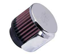 "K&N Filters - K&N Clamp-On Valve Cover Breather Vent Filter - Rubber Base - 1-3/4"" Flange I.D."