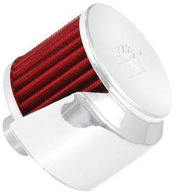 "K&N Filters - K&N Push-In Vent Filter - Rubber Base Tube Valve Cover Breather Vent Filter - Rubber Base - 1"" Flange I.D."