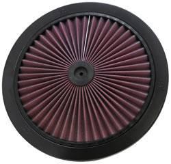 """K&N Filters - K&N XStream® Air Flow Top (Only) - Aluminum - Black Powder Coat - 14"""""""