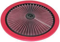 """K&N Filters - K&N XStream® Air Flow Top (Only) - Aluminum - Red Powder Coat - 14"""""""