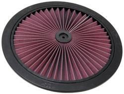 """K&N Filters - K&N XStream® Air Flow Top (Only) - Aluminum - Black Powder Coat - 16"""""""