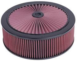 "K&N Filters - K&N XStream® Top Air Cleaner Assembly - Drop Base - Black Powder Coat - 14"" x 4-3/4"" - 5-1/8"" Carb Flange"
