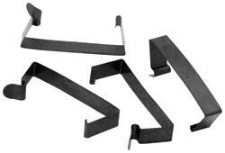 """K&N Filters - K&N Flow Control Steel Spring Clips - Fits Flow Control 14"""" x 4"""" Air Cleaner (Set of 4)"""