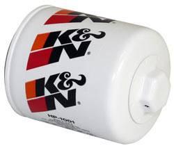 """K&N Filters - K&N Performance Gold Oil Filter - Canister - 3-1/8"""" Tall - 18 mm x 1.5 Thread - AMC/Asuna/GM/Isuzu/Jeep/Saab"""