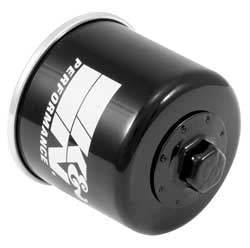 """K&N Filters - K&N Powersports Oil Filter - Canister - 3-1/32"""" Tall - 20 mm x 1 Thread - Various Applications"""