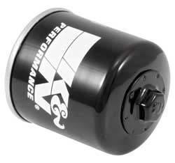 "K&N Filters - K&N Powersports Oil Filter - Canister - 3-11/32"" Tall - 20 mm x 1.5 Thread - Honda®/Kawasaki/Polaris/Yamaha"