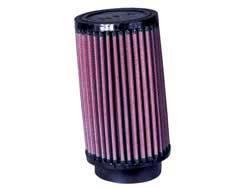 """K&N Filters - K&N Universal Air Filter - Round - 3-1/2"""" Diameter - 6"""" Tall - 2-1/2"""" Flange"""
