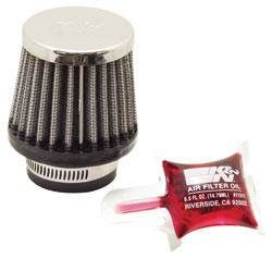 "K&N Filters - K&N Universal Air Filter - Conical - 2-1/2"" Base - 2"" Top - 2-1/4"" Tall - 1-3/8"" Flange"