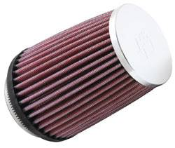 """K&N Filters - K&N Universal Air Filter - Conical - 4"""" Base - 3"""" Top - 5"""" Tall - 2-7/8"""" Flange"""