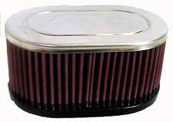 "K&N Filters - K&N Universal Air Filter - Oval - 6-1/4 x 4"" - 3"" Tall - 2-1/8"" Dual Flanges"