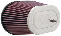 "K&N Filters - K&N Universal Air Filter - Oval - 8-5/8 x 5-1/4"" - 5-1/2"" Tall - 2-15/16"" Flange"