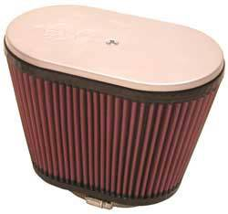 """K&N Filters - K&N Hilborn Fuel Injector Air Filters - """"Late Type"""" - Oval - 9"""" x 5-1/2"""" - 6-1/4"""" Tall - 2-1/8"""" Dual Flanges"""