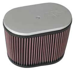 "K&N Filters - K&N Hilborn Fuel Injector Air Filters - ""Late Type"" - Oval - 9"" x 5-1/2"" - 6-1/4"" Tall - 2-1/2"" Dual Flanges"