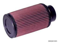 "K&N Filters - K&N Universal Air Filter - Conical - 5"" Base - 4-5/8"" Top - 8"" Tall - 3"" Flange"
