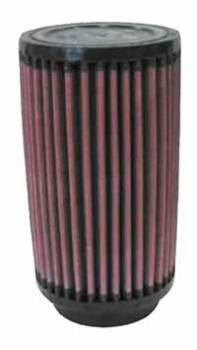 "K&N Filters - K&N Universal Air Filter - Round - 3-1/2"" Diameter - 6"" Tall - 2-1/4"" Flange"