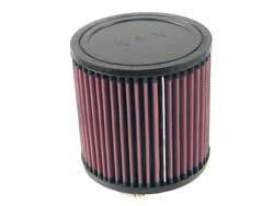 "K&N Filters - K&N Universal Air Filter - Round - 5"" Diameter - 5"" Tall - 3"" Flange"