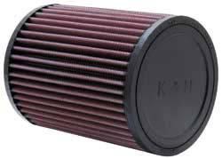 """K&N Filters - K&N Universal Air Filter - Round - 5"""" Diameter - 6-1/2"""" Tall - 3"""" Flange"""