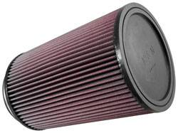 "K&N Filters - K&N Universal Air Filter - Round - 6-1/2"" Diameter - 10"" Tall - 5"" Flange"
