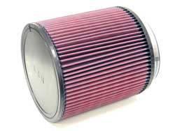 """K&N Filters - K&N Universal Air Filter - Round - 7-1/2"""" Diameter - 8"""" Tall - 6"""" Flange"""
