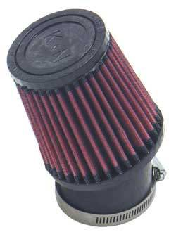 """K&N Filters - K&N Quarter Midget Cone Air Filter - Conical - 3-3/4"""" Base - 3"""" Top - 4"""" Tall - 2-7/16"""" Flange"""