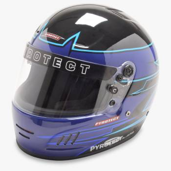 Pyrotect Rebel Graphic Pro Airflow Helmet - Black/Blue