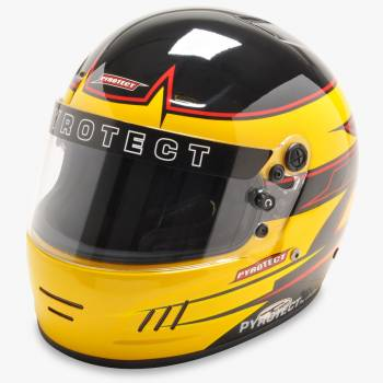Pyrotect Rebel Graphic Pro Airflow Helmet - Black/Yellow