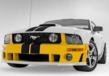 Roush Performance Parts - Roush Performance Parts Roush Front Fascia Fog Lights/Wiring Harness Included Urethane Black - Ford Mustang 2005-09