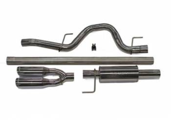 "Roush Performance Parts - Roush Performance Parts Cat Back Exhaust System 2-1/2"" Tailpipe 3.5"" Tips Stainless - Natural"