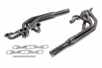"""Schoenfeld Headers - Schoenfeld Headers Sprint Headers 1-5/8 to 1-3/4"""" Primary 3"""" Collector Steel - Black Paint"""