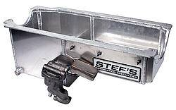 """Stef's Fabrication Specialties - Stef's Drag Engine Oil Pan Rear Sump 6 qt 8"""" Deep - High Volume Oil Pump/Pickup/Hardware Included"""