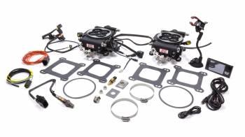 FiTech - FiTech Go EFI 2x4 Fuel Injection Throttle Body Square Bore 70 lb/hr Injectors