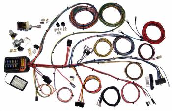 American Autowire - American Autowire Builder 19 Series Complete Car Wiring Harness Complete 19 Power Outlets GM Color Code - Universal