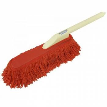 "California Car Duster - California Car Duster California Car Duster Car Duster 26"" Plastic Handle 15"" Head Paraffin Baked Cotton - Red"