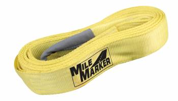 "Mile Marker - Mile Marker 3"" Wide Tow Strap 15 ft Long 24,000 lb Capacity Nylon - Yellow"