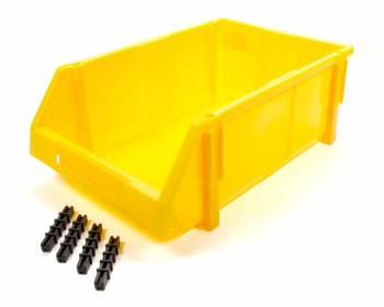 Triple X Race Components - Triple X Race Co. 17.75 x 11.5 x 6.75 Storage Bin Plastic - Yellow