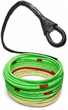 """Bubba Rope - Bubba Rope Winch Line Tow Rope 3/8"""" Diameter 100 ft Long 17,000 lb Capacity - Gator Jaw/Soft Shackle Included"""