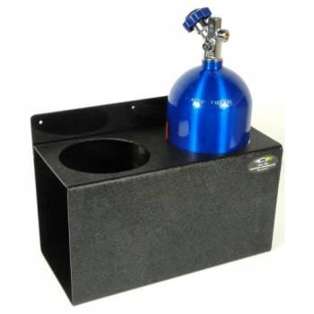 "Clear 1 Racing - Clear 1 Racing 2 Bottle Capacity Nitrous Oxide Bottle Holder Floor/Wall Mount 18 x 12-1/2 x 8-3/4"" Plastic - Black"