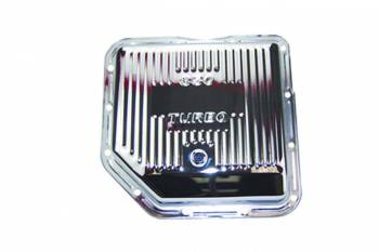 Specialty Chrome - SPECIALTY CHROME Stock Depth Transmission Pan Finned Steel Chrome - TH350
