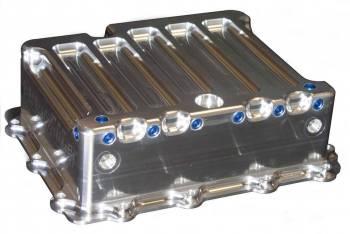Meziere Enterprises - Meziere Enterprises Stock Depth Transmission Pan Heat Exchanger Filter Spacer Included Aluminum - Natural