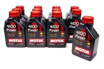 Motul - Motul 4100 Power Motor Oil 15W50 Synthetic 1 L - Set of 12