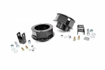 "Rough Country - Rough Country 2-1/2"" Lift Suspension Leveling Kit Hardware/Spacers Front Dodge Fullsize Truck 2014-16 - Kit"