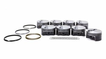 "Mahle Motorsports - Mahle Motorsports PowerPak Piston and Ring Forged 4.075"" Bore 1.0 x 1.0 x 2.0 mm Ring Groove - Minus 4.0 cc"