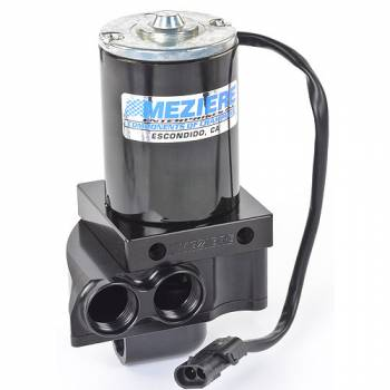 Meziere Enterprises - Meziere Enterprises Electric Water Pump Remote Mount 12 AN Female Inlet Dual 12 AN Female Outlet - Aluminum